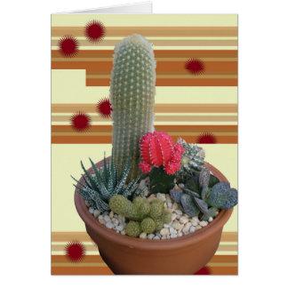 Cactus Dish Garden Note Card #2