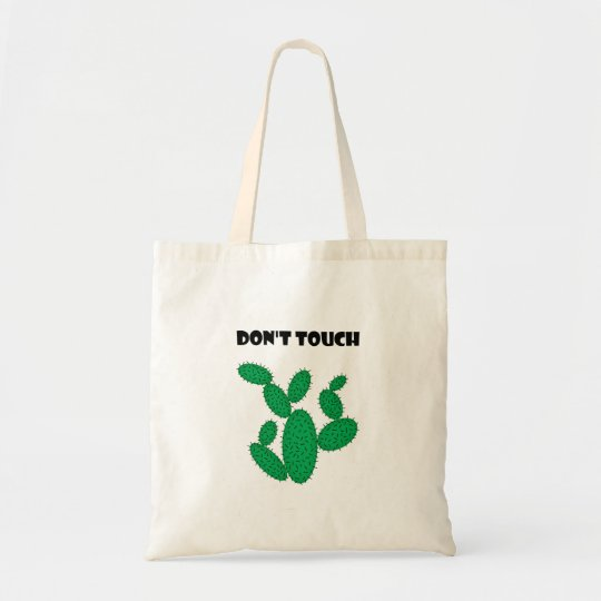 Cactus - don't touch. tote bag