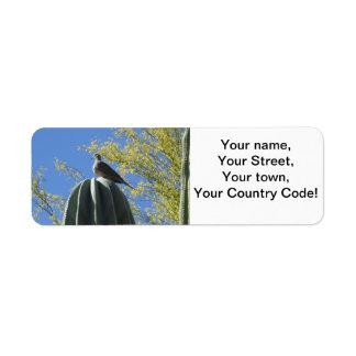 Cactus Dove Return Address Label