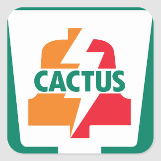 Cactus Eleven Bell 1 designed by Robitussin Square Sticker