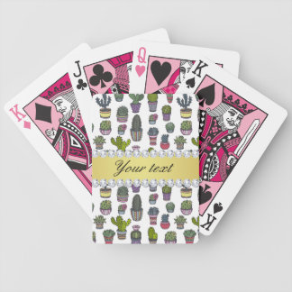 Cactus Faux Gold Bling Diamonds Bicycle Playing Cards