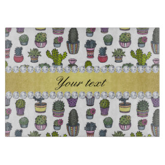 Cactus Faux Gold Bling Diamonds Boards