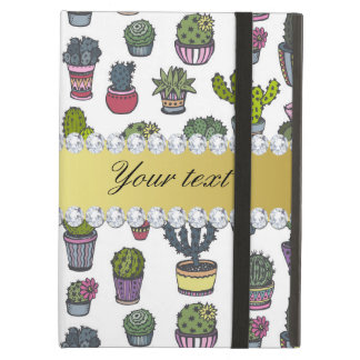 Cactus Faux Gold Bling Diamonds Case For iPad Air