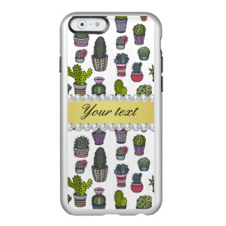 Cactus Faux Gold Bling Diamonds Incipio Feather® Shine iPhone 6 Case