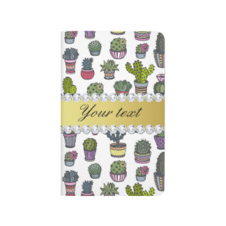 Cactus Faux Gold Bling Diamonds Journals