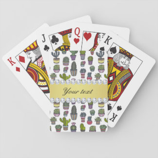 Cactus Faux Gold Bling Diamonds Playing Cards