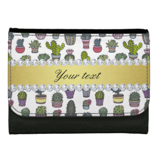Cactus Faux Gold Bling Diamonds Wallets