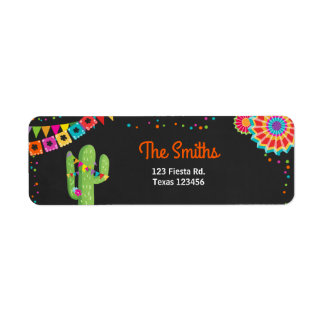 Cactus Fiesta Mexican Return Address Label Party