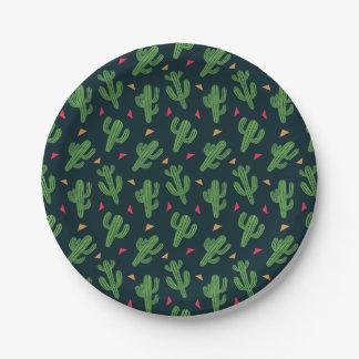 Cactus Fiesta Paper Plate