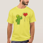 Cactus Flirting with a Heart Balloon T-Shirt
