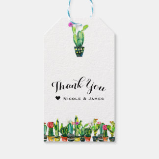 Cactus Floral Rustic Southwestern Boho Favor Gift Tags