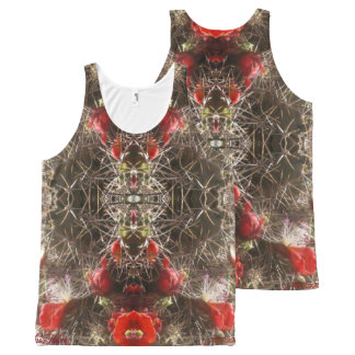 Cactus Flower 2 All-Over-Print Tank Top