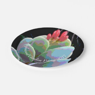 Cactus Flower Buds Paper Plate