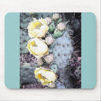 Cactus Flower Digital Ink Mouse Pad