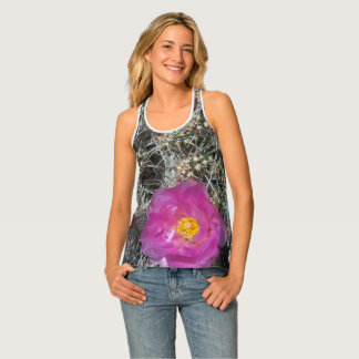 Cactus flower in bloom tank top