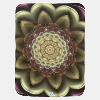 Cactus Flower Kaleidoscope Mandala Receiving Blankets