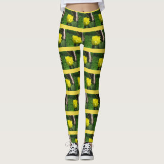 Cactus flower leggings