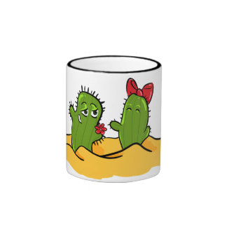cactus flower love tea cup mugs