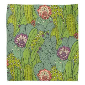 Cactus Flower Pattern Bandana