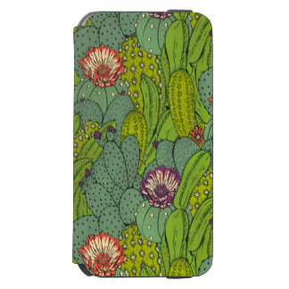 Cactus Flower Pattern iPhone 6 Wallet Case Incipio Watson™ iPhone 6 Wallet Case