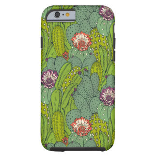 Cactus Flower Pattern Tough iPhone 6 Case