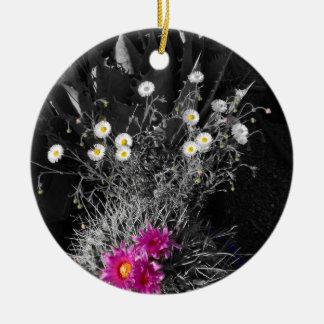Cactus Flower Series Ceramic Ornament