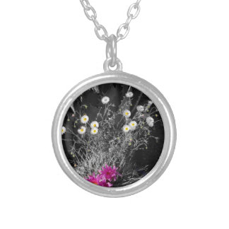 Cactus Flower Series Silver Plated Necklace