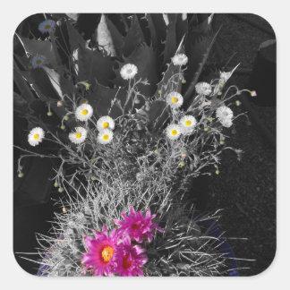 Cactus Flower Series Square Sticker