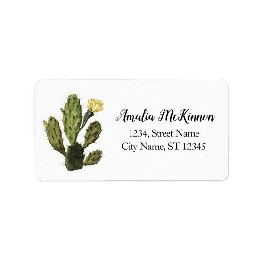 Cactus Flower Vintage Drawing Address Labels