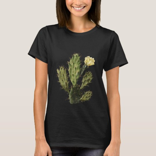 Cactus Flower Vintage Drawing T-Shirt