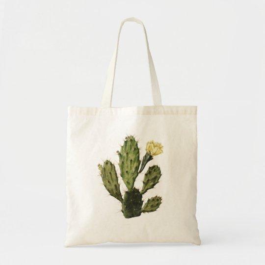 Cactus Flower Vintage Drawing Tote Bag