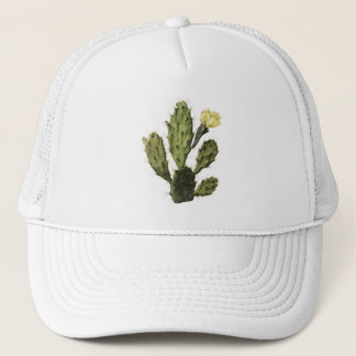 Cactus Flower Vintage Drawing Trucker Hat
