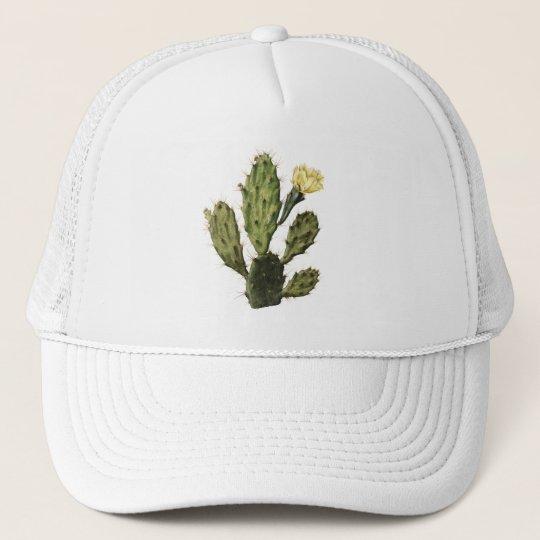 Cactus Flower Vintage Drawing Trucker Hat