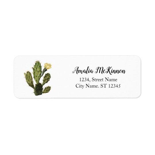 Cactus Flower Vintage Return Address Labels
