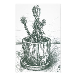 cactus, flowers, nature , plants , pot, magic personalized stationery