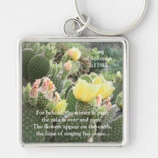 Cactus Flowers Song of Solomon Keychain