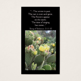 Cactus Flowers Song of Solomon Wallet Card