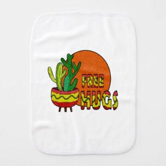 Cactus - free hugs burp cloth