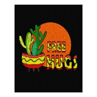 Cactus - free hugs custom letterhead