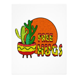 Cactus - free hugs letterhead template