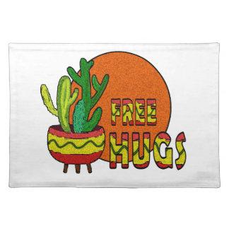 Cactus - free hugs placemat