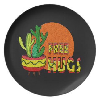 Cactus - free hugs plate