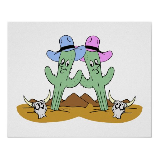 Cactus Friends Forever Posters