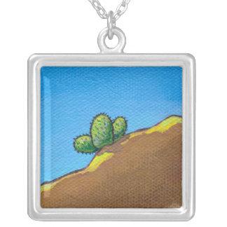 Cactus fun desert landscape art colorful painting jewelry