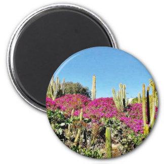 Cactus Garden 2 Inch Round Magnet