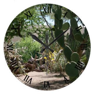 Cactus Garden Large Clock