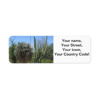 Cactus Garden Return Address Label