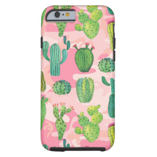 Cactus green red flower leaf Succulents Tough iPhone 6 Case