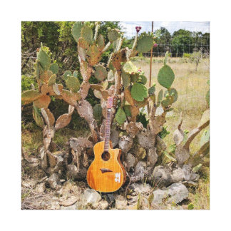 Cactus Guitar Canvas Print