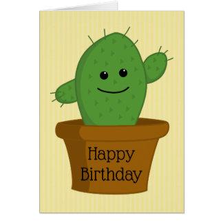 Cactus Happy Birthday Card